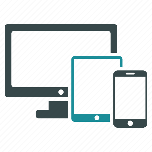 communication, devices, laptop, monitor, pc, telephone, web icon