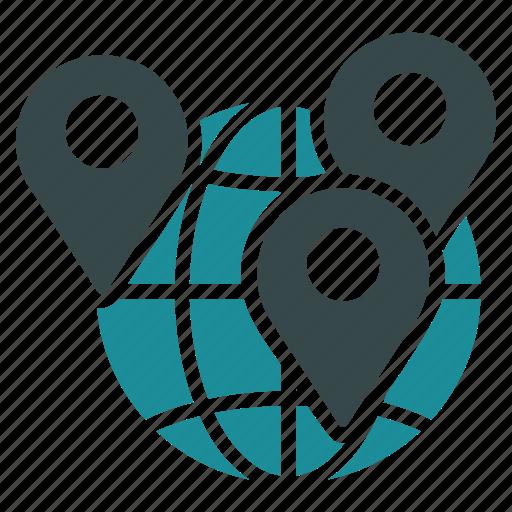 geo, globe, location, map, navigation, target, targeting icon