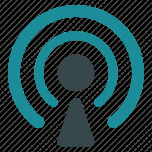 antenna, broadcast, communication, news center, radio, technology, wifi icon