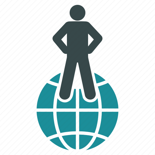 business, globe, man, map, person, travel, web icon