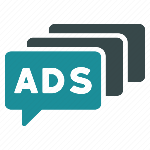 ad, ads, advertisement, advertising, marketing, messages, promotion icon
