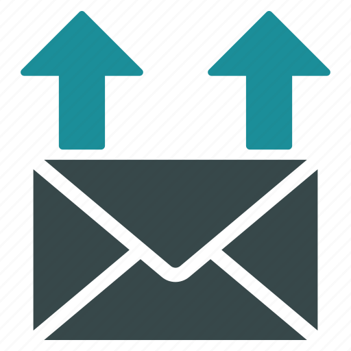 communication, envelope, letter, message, post, send email, upload mail icon