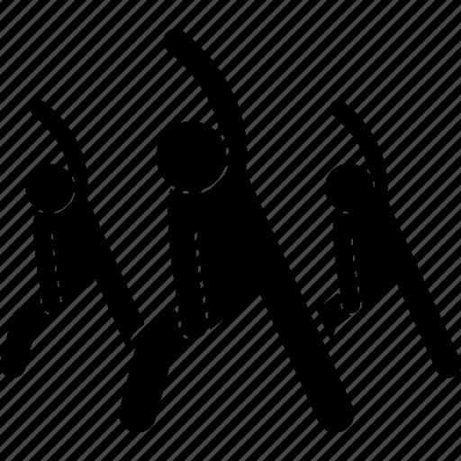 Center class exercise exercising group icon