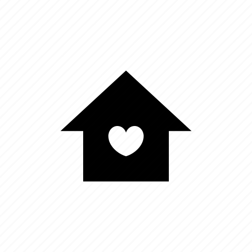 affection, home, house, love, move in icon