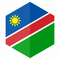 africa, country, design, flag, hexagon, namibia icon