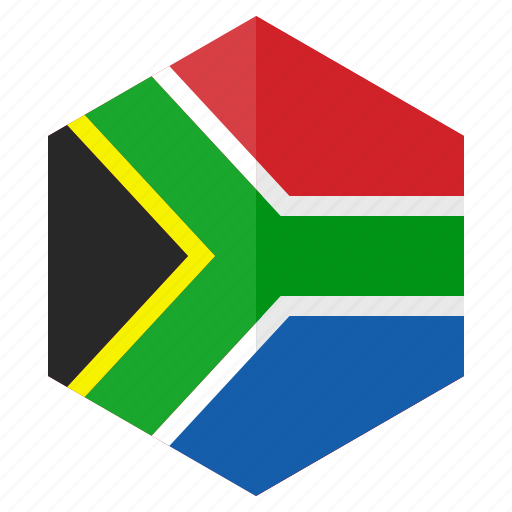 africa, country, design, flag, hexagon, southafrica icon