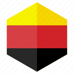 country, design, europe, flag, germany, hexagon icon