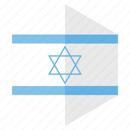 country, design, europe, flag, hexagon, israel icon
