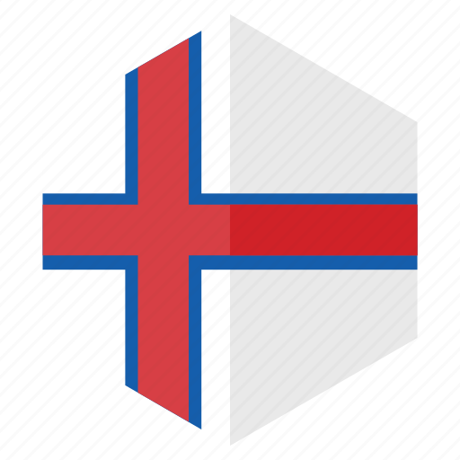 country, design, europe, faroe islands, flag, hexagon icon