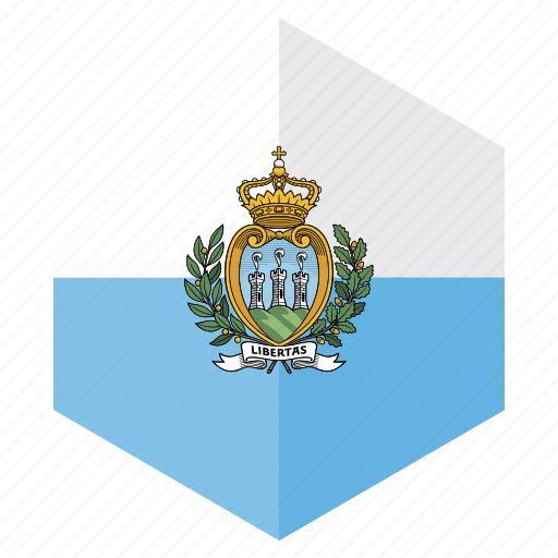 country, design, europe, flag, hexagon, san marino icon