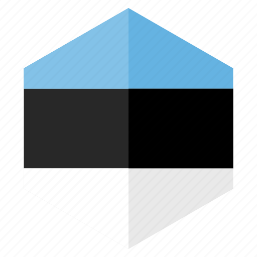 country, design, estonia, europe, flag, hexagon icon