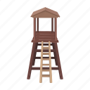 construction, hunting, observation, safari, tower, wooden icon