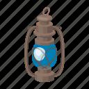 equipment, flashlight, kerosene, lamp, light, portable icon