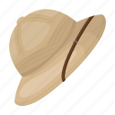 cork, hat, hunter, protection, safari icon