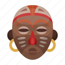 africa, ancient, face, leader, mask, wooden icon