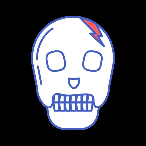 bone, dead, head, line icon, skull icon