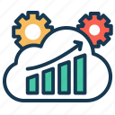 analytics, dashboard, graph, reports, sprint, sprint comparision icon