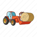 agricultural machinery, equipment, farm, hay, machinery, roll, tractor