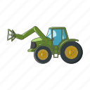 agricultural machinery, equipment, farm, loader, machinery, tractor icon