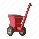 agricultural machinery, crusher, equipment, farm, machinery, trailer icon