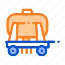 trailer, uniaxial, vehicle icon icon