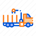 delivery, loading, straw, truck icon
