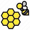 animals, bee, farm, farming, honey, honeycomb, nature