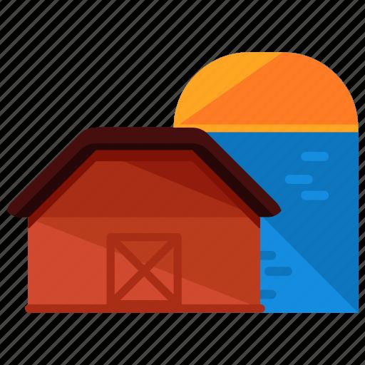 agriculture, barn, estate, farm, farming, property icon