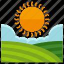 nature, farm, sun, field, weather, agriculture