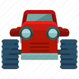 agriculture, farming, tool, tractor, transportation, vehicle icon
