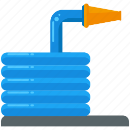 agriculture, hose, tool, water, watering icon