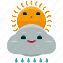 agriculture, cloud, nature, rain, sun, weather icon