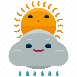 agriculture, cloud, nature, rain, sun, weather icon