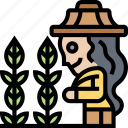 agriculture, farming, agrarian, harvesting, gardening icon