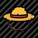hat, cap, farmer, garden, harvest