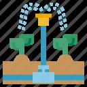 farming, irrigation, gardening, drops, water, watering, system