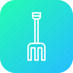 agriculture, dig, farm, field, pitchfork, rake, tool icon