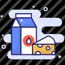lactose, allergy, label, dietary, dairy, milk icon