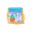 home, house, scene, scenery, window icon