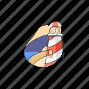 building, lighthouse, scene, scenery icon