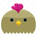 agriculture, animal, chicken, farm, nature icon