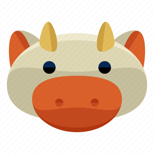 agriculture, animal, cow, farm, nature icon