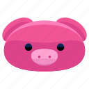 agriculture, animal, farm, nature, pig icon