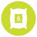 agriculture, fertilizer, sack, seed icon