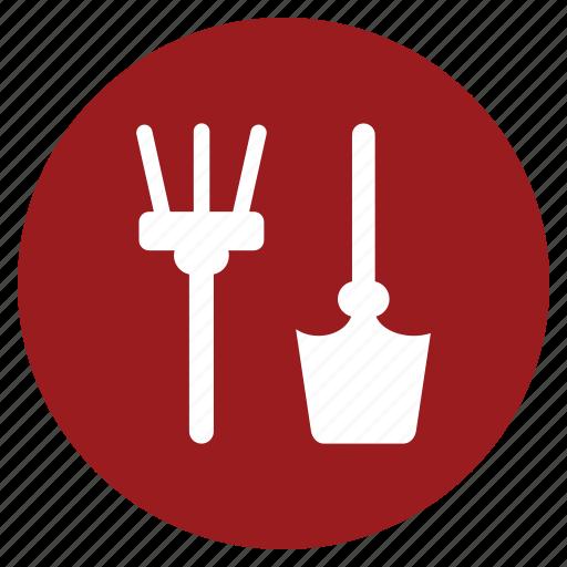 agriculture, cultivator, farming, garden, ground, rake, tool icon