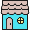 building, cottage, garden, gardening, home, house, tool icon