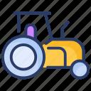 farm, farming, land, tractor, vehicle icon