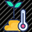 forecast, medium, temperature, thermometer, warm, weather icon