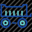 agriculture, farm, farming, trailer, vehicle icon