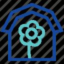 agriculture, farm house, farming, garden, house, plant icon